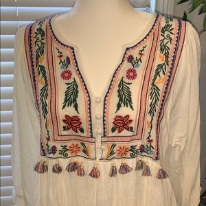 NWT Umgee Embroidered Dress Tunic Size M